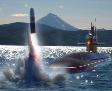 اطلاق صواريخ على كامتشاتكا  من غواصات استراتيجية روسية