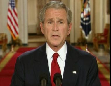 بوش: أمريكا تمر بأزمة مالية خطيرة