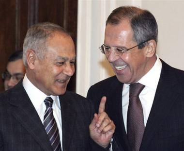 لافروف وأبو الغيط يؤكدان ضرورة استمرار المفاوضات الفلسطينية الإسرائيلية