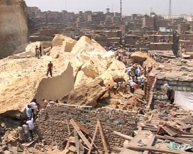 جرف متصدع يهدد بانهيارات جديدة في القاهرة