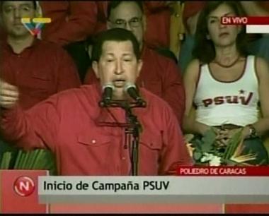 الرئيس الفنزويلي هوغو تشافيز