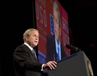 بوش  يشيد بإقرار مجلس الشيوخ لخطة الانقاذ المالي