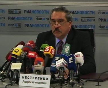 اندريه نيستيرينكو المتحدث الرسمي باسم وزارة الخارجية الروسية
