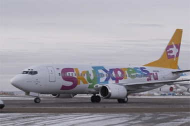 الطائرة المخطوفة التابعة لشركة SkyExpress الروسية