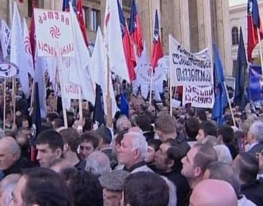 المعارضة الجورجية تدعو إلى سحب الثقة من ساكاشفيلي
