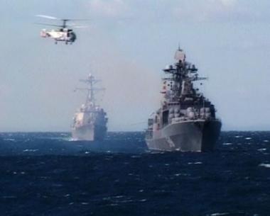 مناورات روسية هندية في المحيط الهندي