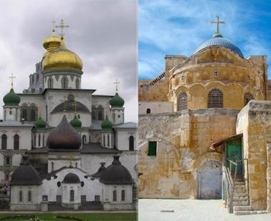 استخدام حجارة مقدسية في ترميم أحد الأديرة بضواحي موسكو