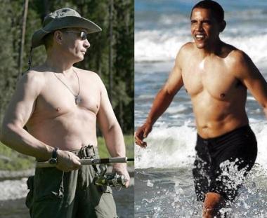 بوتين العاري الصدر اكثر جاذبية من اوباما العاري الصدر
