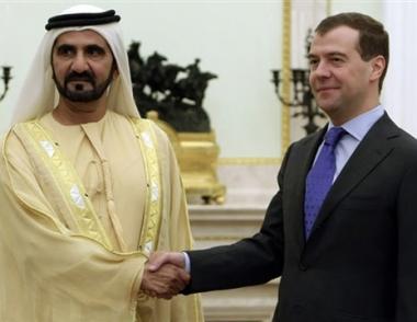 مدفيديف يدعو إلى تطوير التعاون بين روسيا ودولة الإمارات العربية المتحدة