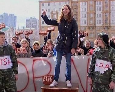 المظاهرات المناهضة للناتو تمتد إلى روسيا