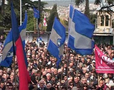 المعارضة الجورجية تشدد الضغط على سآكاشفيلي