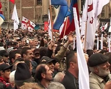 المعارضة تحث جميع المواطنين الجورجيين على الإنضمام إلى الاحتجاجات