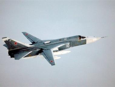 تحطم قاذفة روسية ونجاة طياريها
