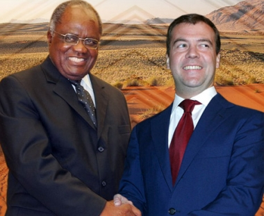 مدفيديف يبحث في ناميبيا العلاقات الثنائية ومسألة امن الطاقة العالمية