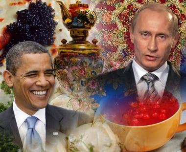 بوتين يقيم مأدبة افطار روسية للرئيس اوباما