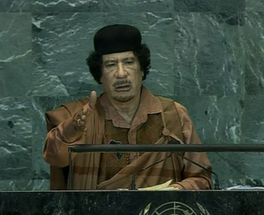 القذافي: المقاعد الدائمة في مجلس الامن تتعارض مع ميثاق الأمم المتحدة