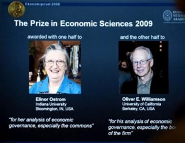 الباحثة الأمريكية اوستروم أول إمرأة تنال جائزة نوبل في الاقتصاد