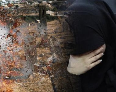 جاءت مع ابنتها لزيارة قبر زوجها فأتى الانفجار عليهما