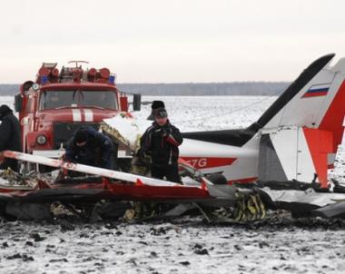 مصرع 8 اشخاص في تحطم طائرة خاصة روسية قرب مدينة تشيلابينسك