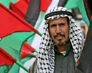 مظاهرة في غزة ضد جدار مصر الفولاذي