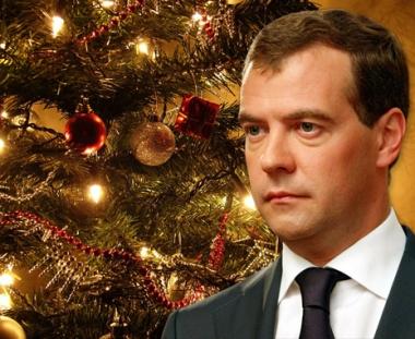 الرئيس الروسي دميتري مدفيديف يهنئ رؤوساء الدول والحكومات بحلول السنة الجديدة