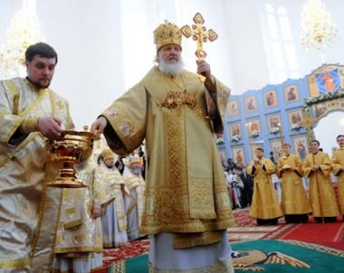بطريرك موسكو وسائر روسيا يفتتح كنيسة كاتدرائية في عاصمة كازاخستان