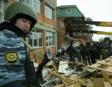 ارهابيون يقصفون مبنى وزارة الداخلية في انغوشيا