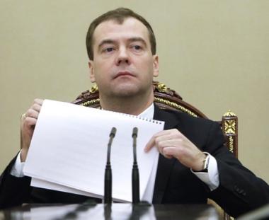 مدفيديف يعلن عن انخفاض حجم الاستثمارات الاجنبية في الاقتصاد الروسي