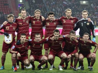 روسيا في المستوى الأول في تصفيات كأس أوروبا 2012 لكرة القدم