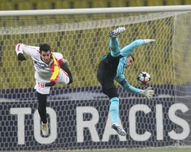 تسيسكا موسكو يتعادل مع إشبيلية في دوري أبطال أوروبا بكرة القدم