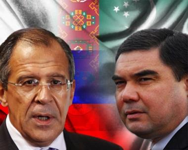 لافروف يبحث مع الرئيس التركماني تطوير التعاون في منطقة بحر قزوين والوضع في افغانستان