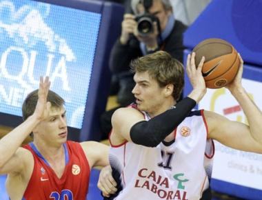 تسيسكا موسكو يهزم كاخا لابورال الإسباني في  دوري أوروبا بكرة السلة