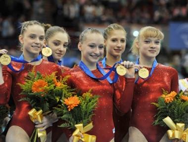 روسيا تحرز المركز الأول في بطولة أوروبا للجمباز