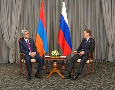 الرئيسان الروسي والارمني يؤكدان على ثبات العلاقات الاستراتيجية بين البلدين