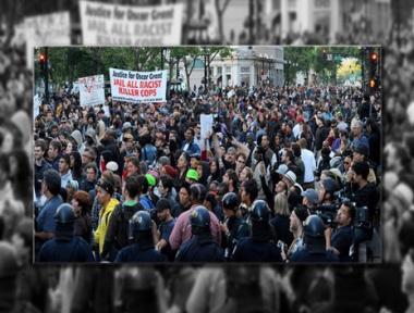 احتجاج حاشد في أوكلاند الأمريكية على قرار محكمة بشأن مقتل شاب أسود