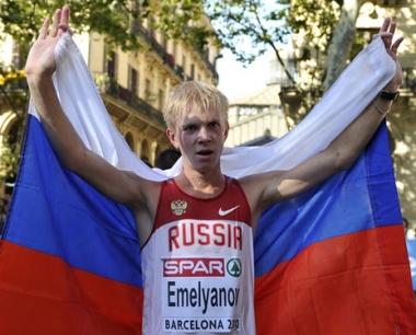 الروسي يميليانوف يتوج بأولى ذهبيات برشلونة لألعاب القوى
