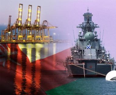 طراد صاروخي روسي يزور ميناء صلالة العماني