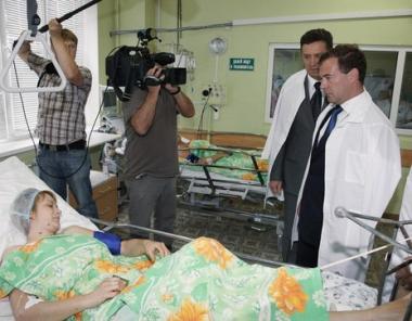 مدفيديف: يجب ايجاد ومعاقبة منفذي ومدبري العملية الارهابية في بيتيغورسك