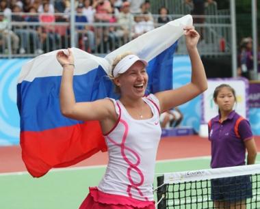 الروسية داريا غافريلوفا أول بطلة أولمبية بالتنس في التاريخ