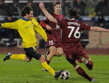 روبين الروسي يجدد المواجهة مع برشلونة في دوري أبطال أوروبا لكرة القدم