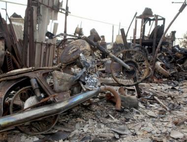 حرائق الغابات تلتهم بيوت قرية نيقولايفكا في اقليم التاي بكاملها مخلفة اكثر من 1000 شخص بلا مأوى