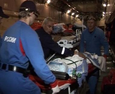 طائرة خاصة تنقل 11 مصابا من فلاديقوقاز تصل إلى موسكو