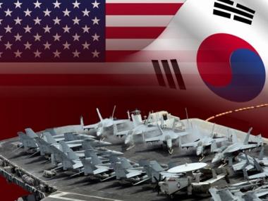 بدء المناورات الامريكية - الكورية الجنوبية في البحر الاصفر