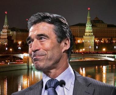 راسموسين يناقش في موسكو موضوع الامن الاوروبي والوضع في افغانستان