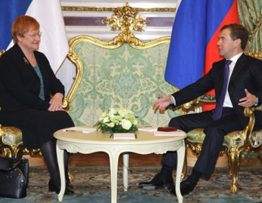 الرئيس مدفيديف: قطاع الابتكارات من اسبقيات التعاون بين روسيا وفنلندا