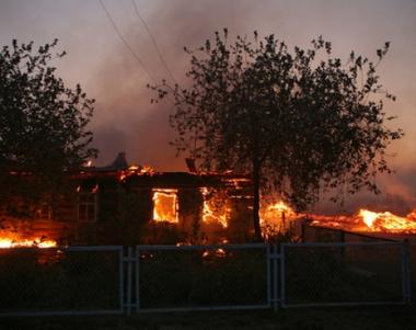 حريق في قرية داغستانية يلتهم 85 دارا