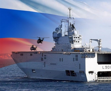 روسيا تقرر شراء حاملة المروحيات