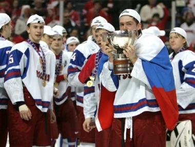 روسيا تتوج بلقب بطلة كأس العالم للشباب بهوكي الجليد