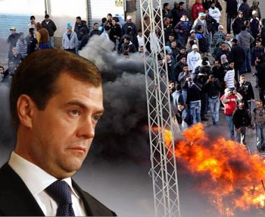 مدفيديف يأمل من دافوس بعودة الاستقرار الى تونس وبألا تنعكس أحداثها سلباً على العالم العربي