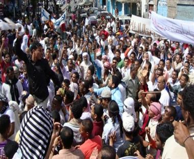 الآلاف من انصار الحوثي في صعدة يطالبون بإسقاط نظام صالح